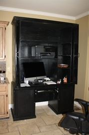 Handcrafted by owner large 2 piece cabinet. Lots of office storage.  Computer not for sale