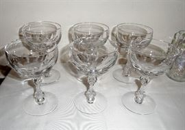Thick crystal wine glasses, set of 6