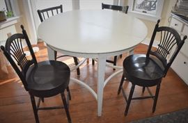 High-top table and 2 sets of 2 chairs