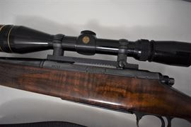 Remington Model 700 Rifle 7 mm mag. Custom Stock - Glass Bedded, Chip out of Pistol Grip, Leupold Scope Vari-X-III, Mag-na-port,