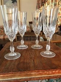 Set of 4 Crystal Flutes