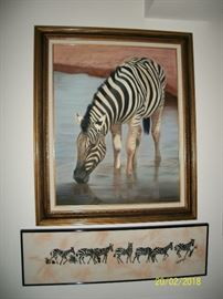 Zebra art work