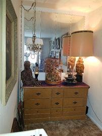 Asian Decor, Lava Lamps, Hanging Chandelier, Maole Dresser