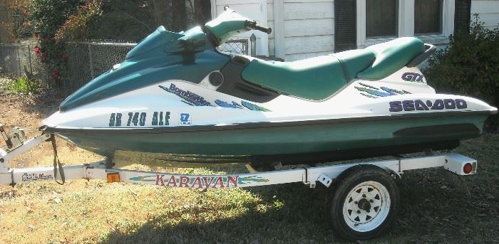 Sea-doo  GTX personal watercraft with trailer