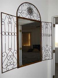7ft wrought iron mirror fabulous
