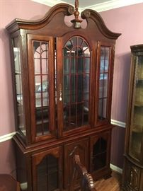 Beautiful lighted china hutch