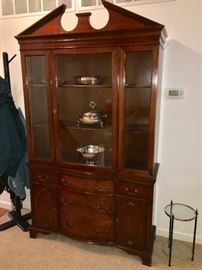 Antique traditional china cabinet