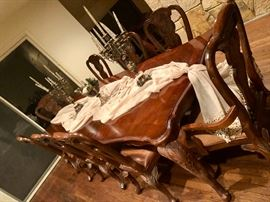 dining room table and 8 chairs by Bernhardt