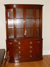 Beautiful Vintage Mahogany China Cabinet
