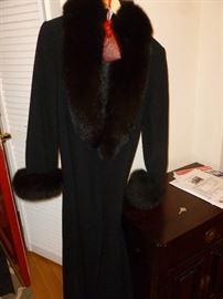 Mink trimmed coat