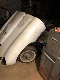 1962 Jaguar XKE Convertible with parts, engine turns over 42K orig. Miles original owner w/ all orig paperwork