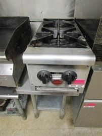 Wells 2 Burner Gas Top with Stand