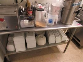 Eagle Stainless Steel Prep Table with Galvanized B ...