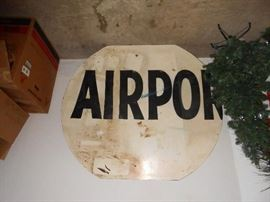 Partial Airport sign very large