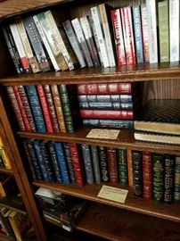 Easton Press Library of American History leather bound 35 vols in immaculate condition .. beautiful collection