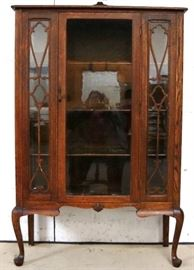 Original finish oak china cabinet