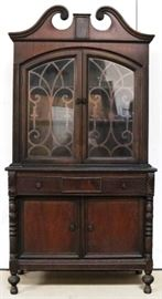 Sheraton double door china cabinet