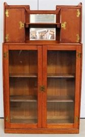 Unusual oak bookcase