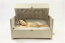 Lot 15: Wax Baby Figurine in Fitted Box