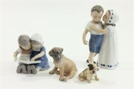 Lot 32: Group Lot 4 Porcelain Figures
