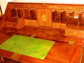 Interior of Late 18th, Early 19th C. Continental Desk