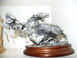 Signed Pewter sculpture