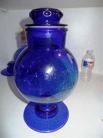 Blue kitchen glass