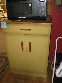 70's harvest gold cabinet