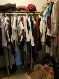 Lots of lots of fashionable women's clothing and accessories