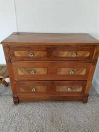 This is a nice piece - Vintage Three Drawer Chest with Detailing