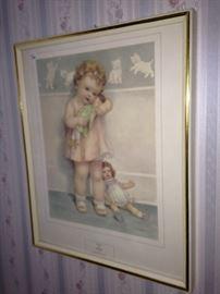 Vintage (child with dolls) art