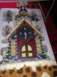 Decorative snow scene pieces