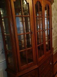 China cabinet with ample storage and display