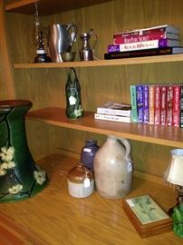 Books, jugs, and home accessories