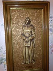 Lady Pilgrim  embossed plaque