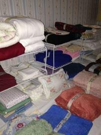 Towels, blankets, sheets, etc.