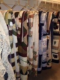 Large selection of quilts