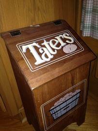 """""""Taters"""" bin"""