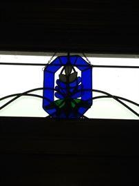 Bluebonnet stain glass