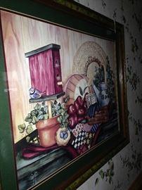 Country style framed art