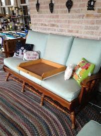Hardrock maple 3-cushion sofa