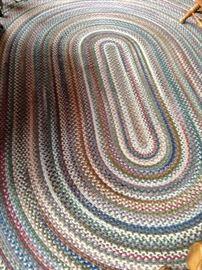 8 feet x 11 feet braided rug