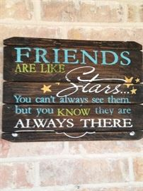 """""""Friends  . . .  and stars"""""""