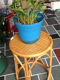 Small bamboo side table