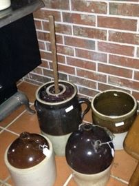 Vintage jugs & churn