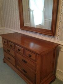 Dresser & mirror have a coordinating chest of drawers