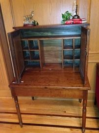 Antique desk with great storage for organizing desk needs