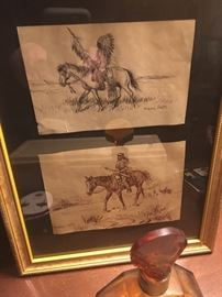 Indian Sketches - Signed