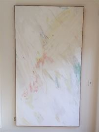 "1. Abstact Painting, ""Effluvial"" by Peter Bocour 1979 (82"" x 45"")"
