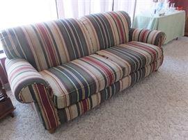 stripped sofa